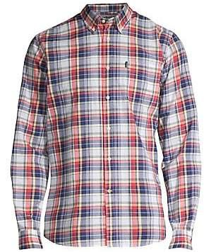 Barbour Men's Madras Plaid Button-Down Shirt