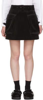 Simone Rocha Black Cargo Pocket Miniskirt