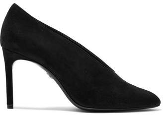 Lanvin - Low-cut Suede Pumps - Black $745 thestylecure.com