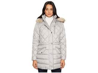 Lauren Ralph Lauren Printed Anorak w/ Faux Fur Women's Coat