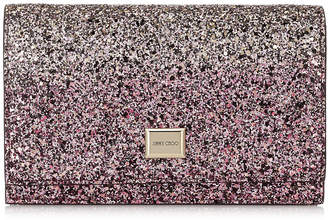 Jimmy Choo LIZZIE Candyfloss and White Sand Party Coarse Glitter Degrade Mini Bag