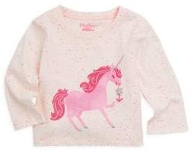 Hatley Baby Girl's Curious Unicorn Long-Sleeve Top