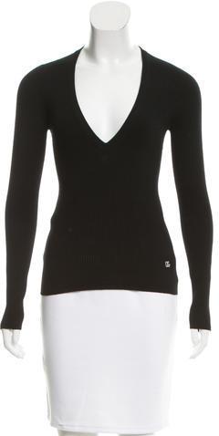 Dolce & GabbanaDolce & Gabbana Fitted V-Neck Sweater
