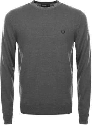Fred Perry Classic Crew Neck Knit Jumper Grey