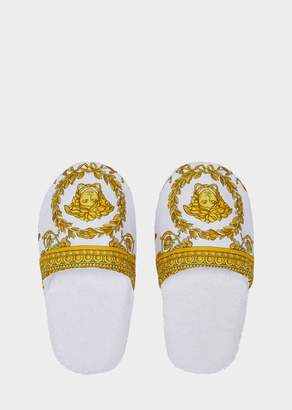 Versace I Baroque Bath Slippers