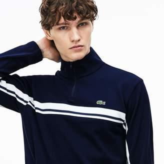 Lacoste Men's Zip Stand-Up Collar Pique Sweater