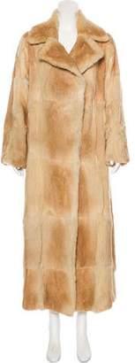 Plein Sud Jeans Fur Long Coat