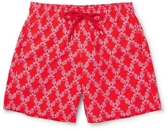 Vilebrequin Moorea Mid-Length Printed Swim Shorts - Men - Red