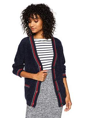 Cable Stitch Women's Fuzzy Collegiate Cardigan
