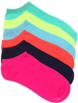 Mix No. 6 Neon No Show Socks - 6 Pack - Women's