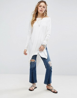 Free People Grapevine Long Sleeved Tunic Tee $48 thestylecure.com