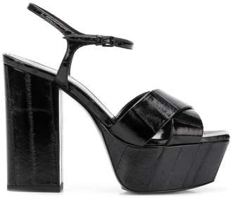 Saint Laurent Farrah crisscross sandals