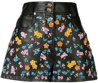 Versace floral embroidered shorts
