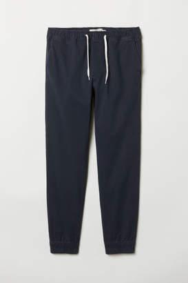 H&M Cotton Twill Joggers - Blue