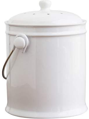 Natural Home Brands Natural Home 1-Gal Ceramic Compost Bin, White