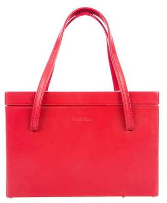 Calvin Klein Leather Box Handle Bag