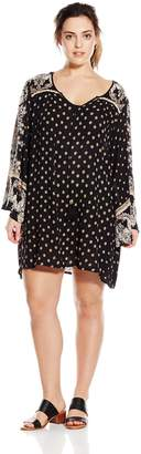 Angie Junior's Plus-Size Printed Bell Sleeve Dress