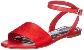 3b9cd531f Armani Exchange Women s Sandal Nylon Webbing Open Toe (Moulin Rouge Red  00029)