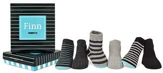Trumpette Boys' Finn Striped Socks, Set of 6 - Baby