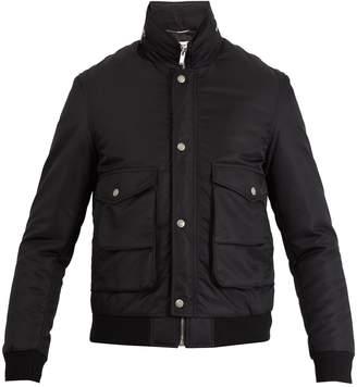 Saint Laurent Concealed-hood bomber jacket
