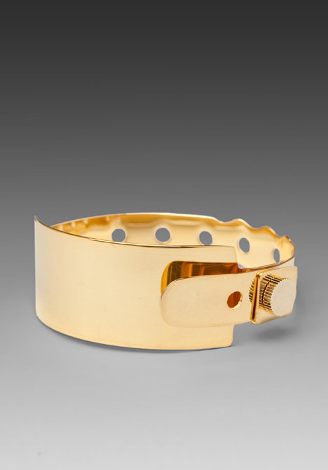 Cast of Vices Coming or Going 24K Gold Plated Medical ID Bracelet