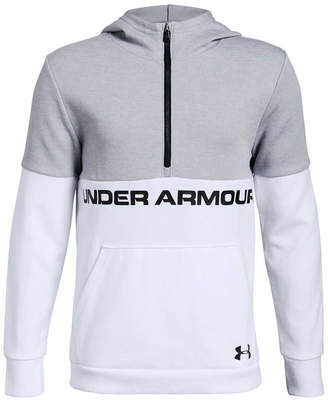 Under Armour Boys Double Knit Half Zip Hoodie