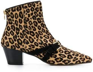 L'Autre Chose leopard print boots