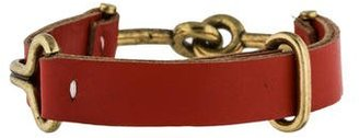 Giles & Brother Red Leather Narrow Visor Cuff $75 thestylecure.com