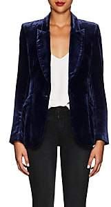 L'Agence Women's Chamberlain Velvet Blazer - Navy