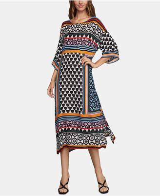 BCBGMAXAZRIA Printed Midi Dress