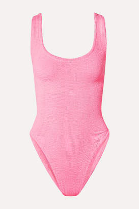 Hunza G Seersucker Swimsuit - Bright pink