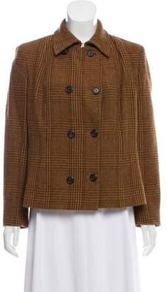 Max Mara Plaid Wool-Blend Blazer