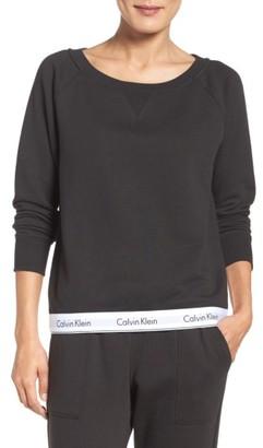 Women's Calvin Klein Lounge Sweatshirt $68 thestylecure.com