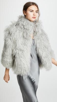 Adrienne Landau Mongolian Lamb Jacket