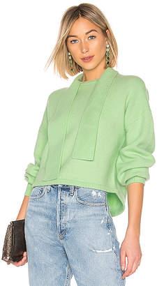 Tibi Tie Collar Pullover Sweater