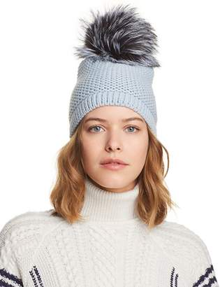 AllSaints Kyi Kyi Slouchy Hat with Fox Fur Pom-Pom - 100% Exclusive