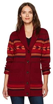 Pendleton Women's Starburst Stripe Merino Wool Cardi Sweater