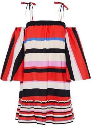 Nicholas Amalfi Convertible Striped Cotton-Poplin Dress