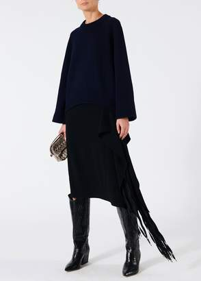 Tibi Triacetate Fringe Skirt
