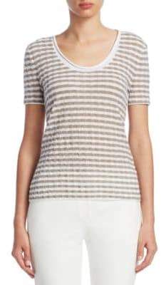 Emporio Armani Textured Jersey Top