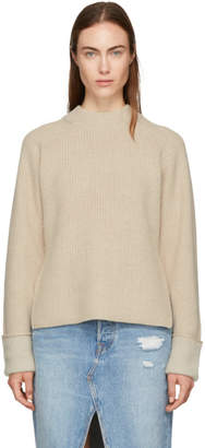 3.1 Phillip Lim Beige Wool-Blend Sweater