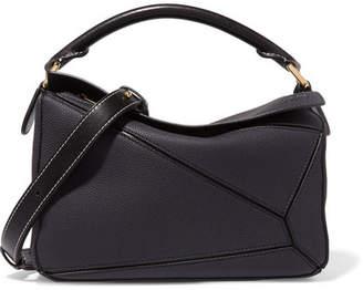 Loewe Puzzle Textured-leather Shoulder Bag - Navy