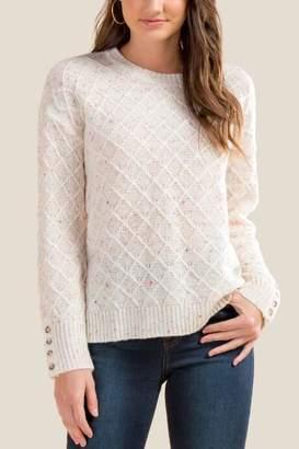 francesca's Tessa Confetti Pullover Sweater - Ivory