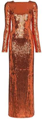 Galvan adela sequin embellished maxi dress