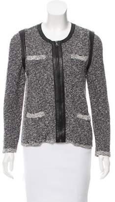 Rag & Bone Leather-Accented Bouclé Jacket