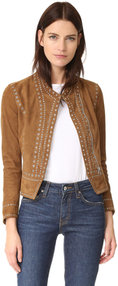 Derek Lam 10 Crosby Studded Suede Jacket $1,595 thestylecure.com
