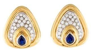 Chimento 18K Sapphire & Diamond Earclips