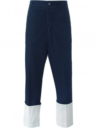 Loewe turn-up hem cropped trousers $890 thestylecure.com