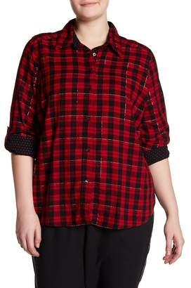 Joe Fresh Plaid Button Shirt (Plus Size)