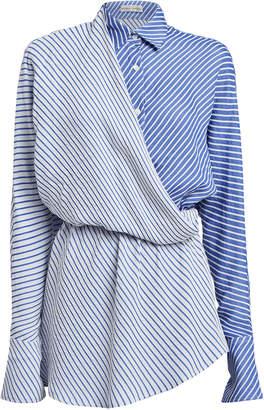 Palmer Harding Palmer//Harding Mirror Striped Surplice Shirt